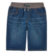 Arizona Drawstring Denim Cargo Shorts - Boys 8-20 and Husky