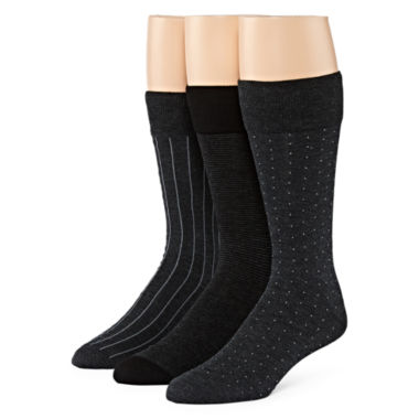 jcpenney.com | Stafford® 3-pk. Rayon from Bamboo Crew Socks