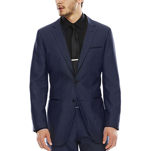 akademiks® Blue Birdseye Suit Jacket - Slim Fit