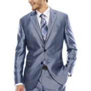 JF J. Ferrar® Shimmer Blue Suit Jacket - Slim Fit