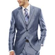 JF J. Ferrar® Shimmer Blue Suit Jacket - Slim Fit