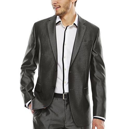 JF J. Ferrar® Diamond Charcoal Shimmer Suit Jacket - Slim