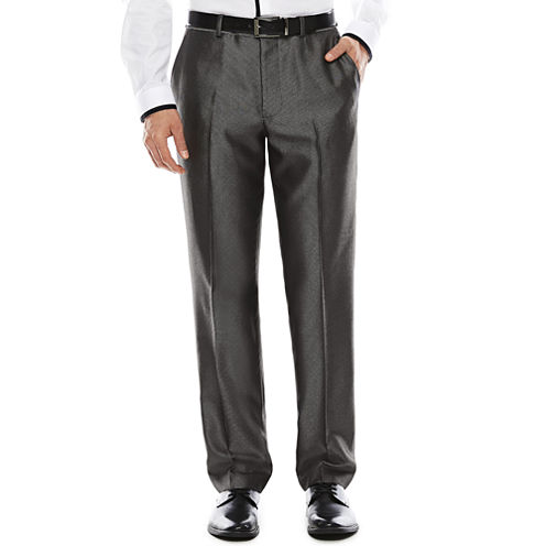 Men's JF J. Ferrar® Diamond Charcoal Shimmer Flat-Front Slim Suit Pants
