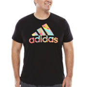Adidas® Short-Sleeve Mash Up Logo Tee - Big & Tall
