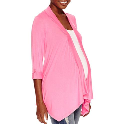 Maternity 3/4-Sleeve Open Cardigan