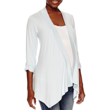 jcpenney.com | Maternity 3/4-Sleeve Open Cardigan - Plus