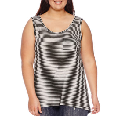 jcpenney.com | Hybrid Pocket Tank Top - Juniors Plus