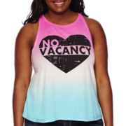 Arizona Swing Cropped Tank Top - Juniors Plus