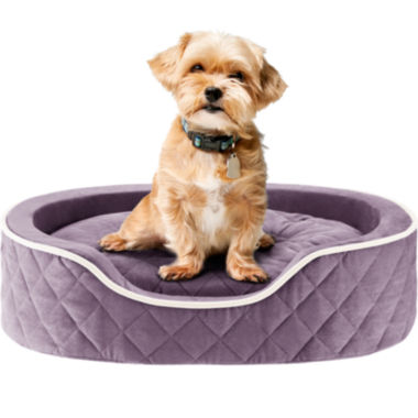 jcpenney.com | Sleep Philosophy Renny Quilted Memory Foam Orthopedic Oval Cuddler Dog Bed