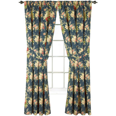 Waverly Sanctuary Rose Floral 2 Pack Curtain Panels Jcpenney