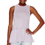 a.n.a® Peplum Tank Top - Tall