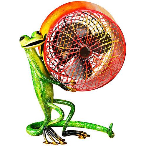 Deco Breeze Gecko Figurine Fan