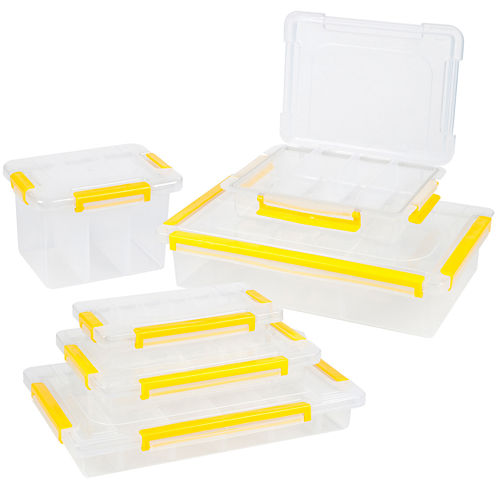 Stalwart 6-in-1 Parts and Crafts Tool Box Storage Organizer Set