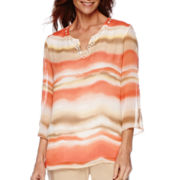 Feels Like Spring 3/4-Sleeve Print Tunic