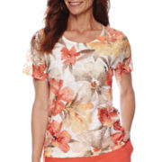 Alfred Dunner® Feels Like Spring Short-Sleeve Lace Print Top