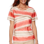 Alfred Dunner® Feels Like Spring Short-Sleeve Tiered Top