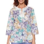 Alfred Dunner® Sanibel Island 3/4-Sleeve Print Tunic