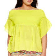 Bisou Bisou® Smocked Off-the-Shoulder Top - Plus