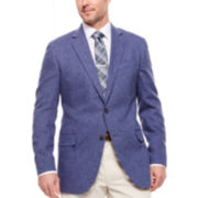 Stafford® Linen-Cotton Herringbone Sport Coat - Classic Fit