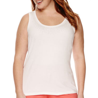 jcpenney.com | St. John's Bay® Beaded Tank Top - Plus