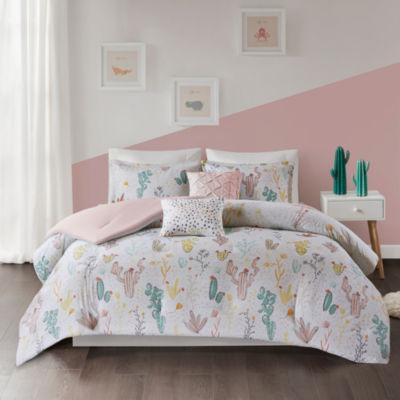comforter set romantic lotus floral guild best colored sets designers multi decoholic flower jewel spring coloured by bedding