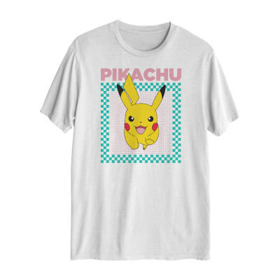 Pikachu Mens Crew Neck Short Sleeve Pokemon Graphic T
