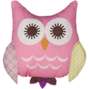 Lolli Living Pink Owl Pillow
