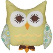 Lolli Living Green Owl Pillow