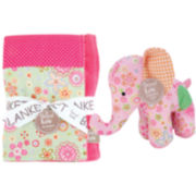 Trend Lab® Sherbet Patchwork Blanket and Stuffed Elephant