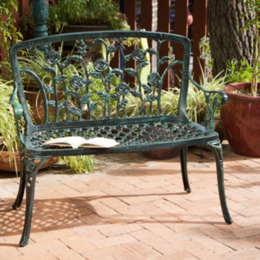 jcpenney.com | Saint Kitts Outdoor Cast Aluminum Patio Bench