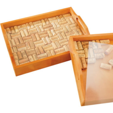 jcpenney.com | Wine Enthusiast® Wine Cork Serving Tray Kit