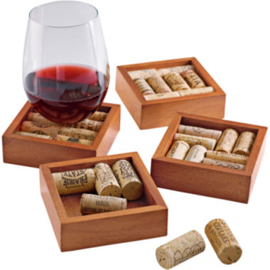 jcpenney.com | Wine Enthusiast® Set of 4 Wine Cork Coasters