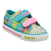 Skechers® Twinkle Toes Shuffles Peace 'n Love  Girls Sneakers - Toddler
