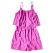 Total Girl® Ruffled, Sleeveless Romper - Girls 6-16 and Plus