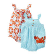 Carter's® Crab 2-pk. Sunsuits - Girls newborn-24m