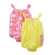 Carter's® Seahorse 2-pk. Sunsuits - Girls newborn-24m