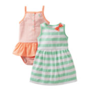 Carter's® Striped Dress and Sunsuit - Girls newborn-24m