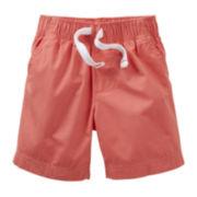 Carter's® Coral Poplin Shorts - Boys 6m-24m