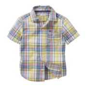 Carter's® Short-Sleeve Yellow Plaid Woven Shirt - Boys 2t-4t