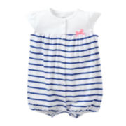 Carter's® Striped Creeper - Girls newborn-24m