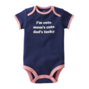 Carter's® Short-Sleeve Cute Slogan Bodysuit - Girls newborn-24m
