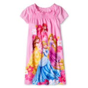 Disney Collection Princesses Nightshirt - Girls 2-10