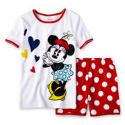 Disney Red Minnie 2-pc. Pajamas - Girls 2-10