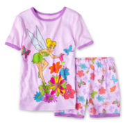 Disney Collection Tinker Bell 2-pc. Pajamas - Girls 2-10