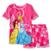 Disney Collection Princesses 2-pc. Pajamas - Girls 2-10
