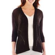 Worthington® 3/4-Sleeve Open-Front Cardigan Sweater