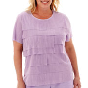 Alfred Dunner® Shaker Heights Short-Sleeve Tiered Ruffle Tee - Plus