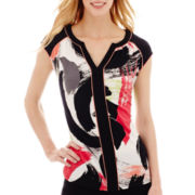 Worthington® Short-Sleeve V-Neck Top