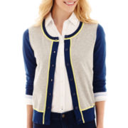 Stylus™ 3/4-Sleeve Colorblock Crewneck Cardigan Sweater
