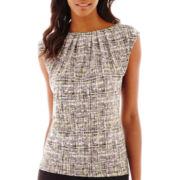 Liz Claiborne® Short-Sleeve Print Top